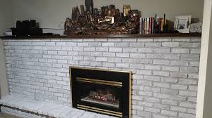 Whitewashing A Fireplace by Whitewashing A Brick Fireplace Leah And Joe Home Diy Projects