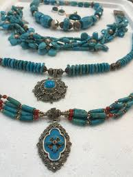 turquoise silver necklace jewelry images Latest silver crystal jewellery collections silver crystal jewellery jpg