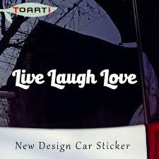 popular live laugh love car stickers buy cheap live laugh love car live laugh love vinyl character art decal sticker car window bumper wall symbol heart peace waterproof