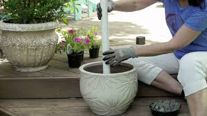 Diy Patio Umbrella Stand How To Make An Outdoor Umbrella Stand Garden Pinterest