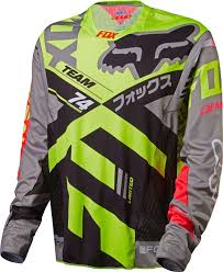 fox motocross shirts fox racing 2017 flexair dh long sleeve l s jersey moth le copper