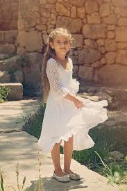 first communion dress flower white lace dress girls and