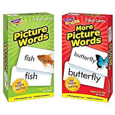 words cards picture words pocket flash cards toys