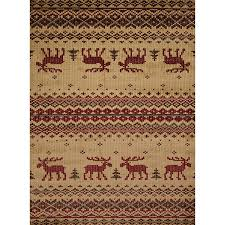 Moose Area Rugs Embroidered Moose Area Rugs