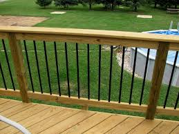 deckorators railing and accessories black aluminum balusters and