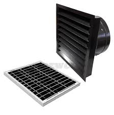 20 watt solar attic fan wall mount