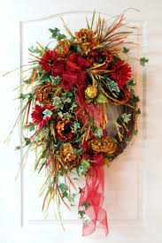lg fall front door wreath beautiful eye catching colors