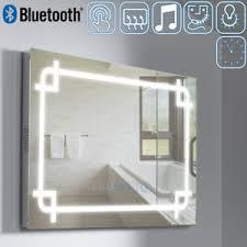 Bluetooth Bathroom Mirror Bluetooth 5050 Led Lighted Bathroom Mirror Shaver Socket Clock
