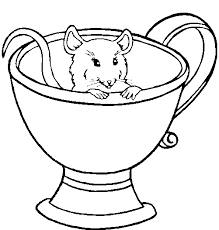 free tea cup coloring pages
