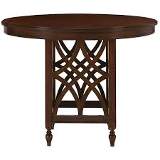 city furniture oxford mid tone round high dining table