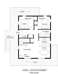 Unique Floor Plan Small House Floor Plans Awesome Bedroom With Loft Cabin Flat Plan