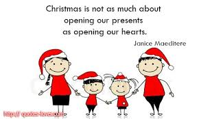 is not as much about opening our presents as opening our