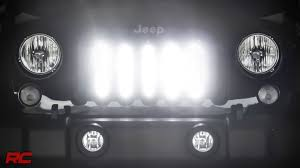 Led Lights For Jeeps 2007 2017 Jeep Wrangler Jk Vertical 8 Inch Led Light Bar Grille