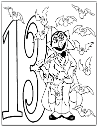 Count Color Pages In Pdf Z Onae Coloring Education Sesame Numbers
