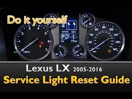 how to reset maintenance light on 2007 toyota highlander hybrid lexus lx service light oil life reset guide youtube