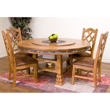 sedona wood round dining table u0026 chairs in rustic oak sunny