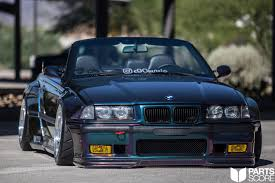 bmw e36 stanced pandem widebody conversion airlift 3p air suspension e36 m3