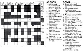 left handed crossword anything left handed