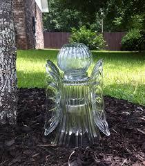 solar light crafts love this angel with solar light gardening pinterest