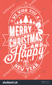 we wish you merry happy stock vector 533319685