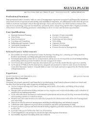 Resume Template Hospitality Industry Professional Entrepreneurial Senior Executive Templates To