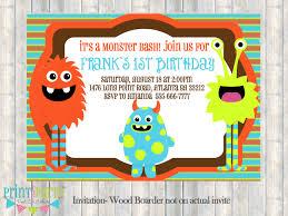 art birthday invitations monster birthday invitations plumegiant com