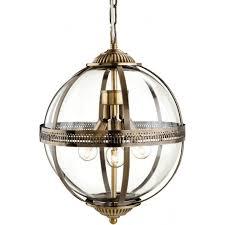 Antique Brass Pendant Light Firstlight Mayfair Antique Brass 3lt Indoor Pendant Light With