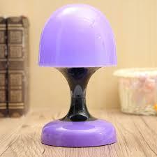 led mini touch table mushroom bedside lamp night light for kids