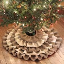 how to make a no sew burlap tree skirt recipe burlap tree