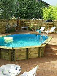 Pool Ideas For Small Backyard by 51 Best Semi Inground Pools Images On Pinterest Backyard Ideas