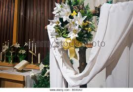 Easter Decorations At Church easter church altar lily stock photos u0026 easter church altar lily