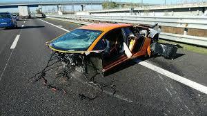 lamborghini aventador crashes lamborghini aventador sv torn apart in high speed crash in italy