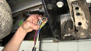 installation of a trailer wiring harness on a 2015 chevrolet