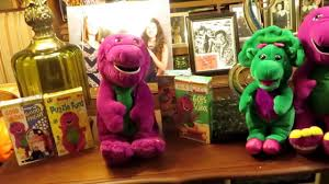 barney the dinosaur 1997 talking interactive plush actimates by