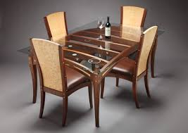 dining room furniture glass top dining table set 4 chairs