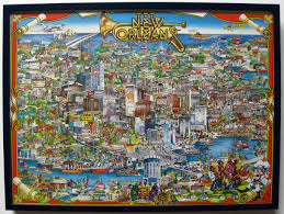 New Orleans Map Usa by New Orleans Posterart And Design Inspiration From Around The World