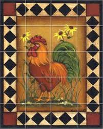 Pictures Of Kitchen Backsplashes by Chickens Roosters Farm Family Feathers Kitchen Backsplash