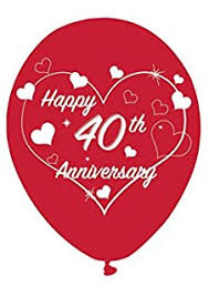 what is 40th wedding anniversary ruby 40th wedding anniversary foil wall decoration banner