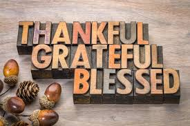 Blessed Thanksgiving Thankful Grateful Blessed Thanksgiving Theme Stock Photo Image