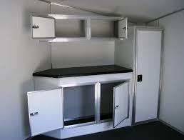 v nose enclosed trailer cabinets v nose cabinets