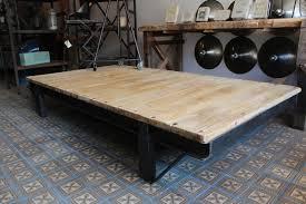 Table De Salon Industrielle by Mobilier Industriel Grande Table Basse Industrielle