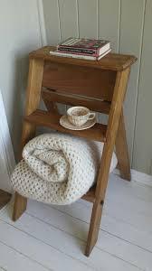 vintage or country style stepladder shelf or bedside table u2022 aud