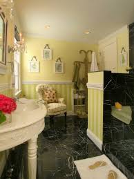 20 yellow bathroom designs decorating ideas design trends yellow cottage bathroom with black marble tile