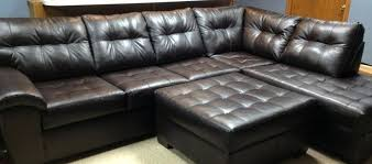 simmons dark red leather sectional sofa u2013 forsalefla