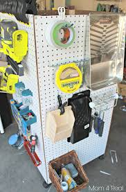 pegboard storage containers remodelaholic build an organized pegboard tool cabinet and