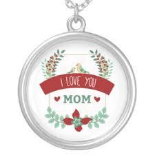 i love you mom necklaces u0026 lockets zazzle