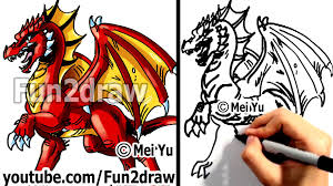 how to draw a dragon learn to draw drawing tutorials