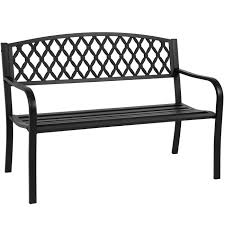 Black Patio Chairs Metal Mainstays Slat Garden Bench Black Walmart Com