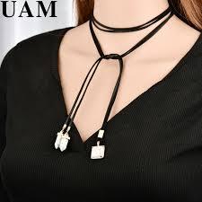 diy pendant choker necklace images Uam elegant black velvet choker necklace with stone geometric jpg