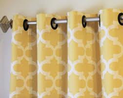 Saffron Curtains Pair 50 Wide Premier Print Fynn Rod Pocket Curtains